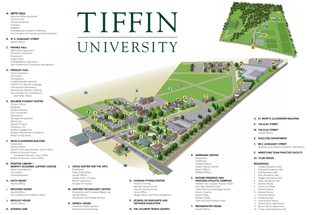 Aauw Tiffin University Map Tiffin Oh Branch